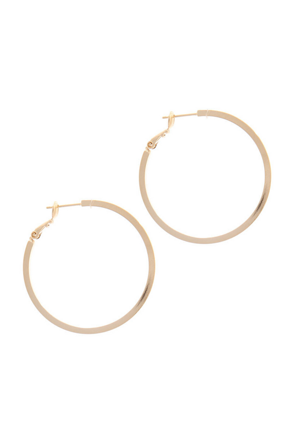 Mia 14K Gold Dipped Hoops