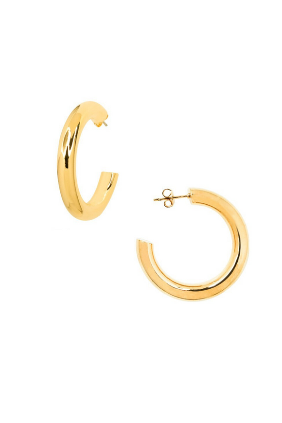 Meg 14K Gold Dipped Hoops