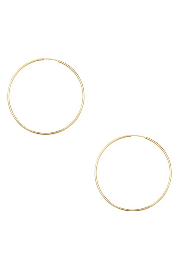 Gold Dipped Endless Hoop