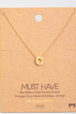 Gold Dipped Initial Necklace