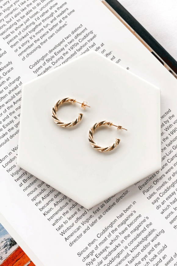 Isla Gold Dipped Twist Hoop
