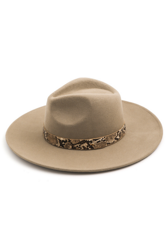 Millie Snakeskin Band Hat