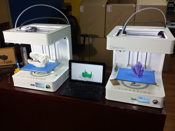 Voxel Factory now selling the Canadian Tinkerine Ditto PRO 3D Printer in Montréal, Québec, Canada!