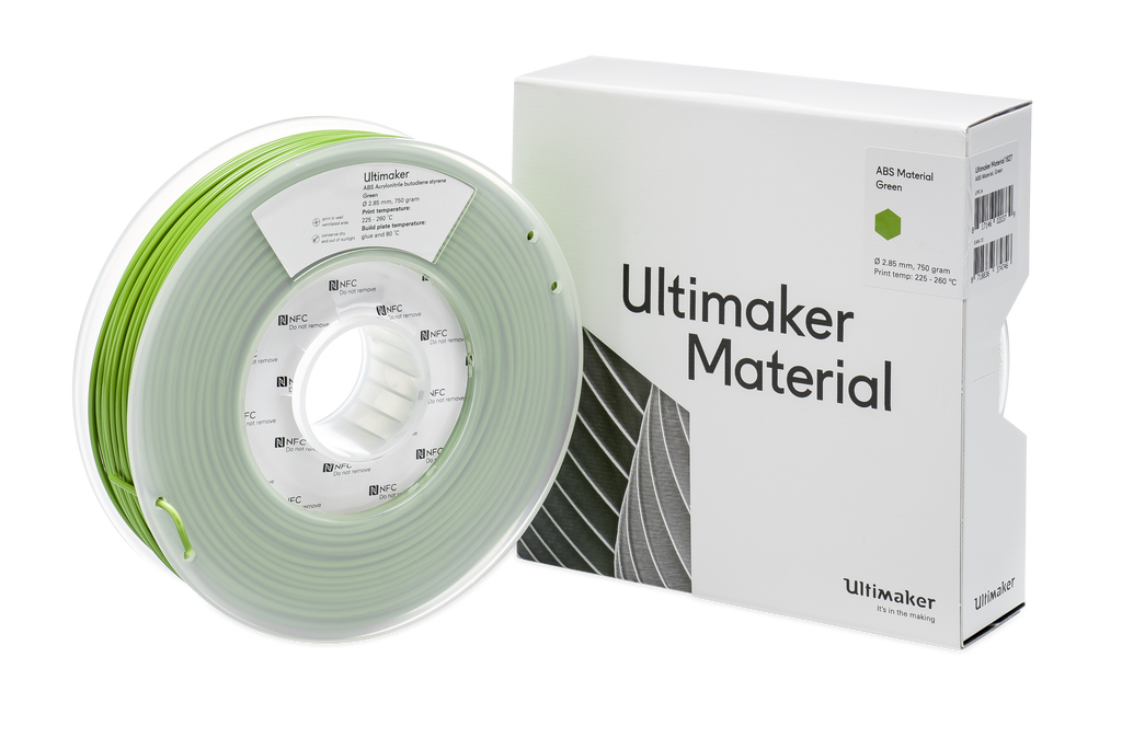 Ultimaker 3 extended 3D printer at Voxel Factory NFC reader spools
