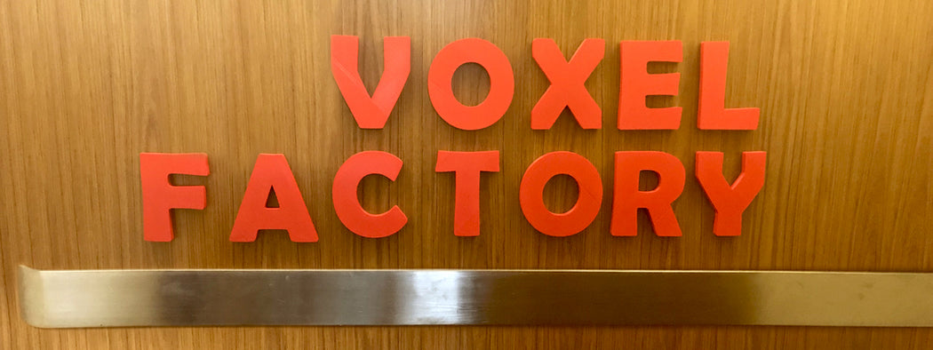 Picture of Voxel Factory Old sign in elevator
