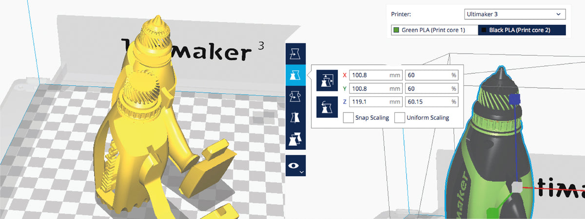 Picture of Ultimaker Cura 3D Printing slicing software at Voxel Factory 3D printing Store in Canada
