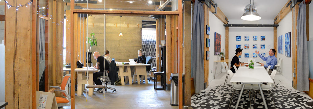 Picture of Creative Coworkers space in Vancouver Railtown where Voxel Factory has its 3D printer store