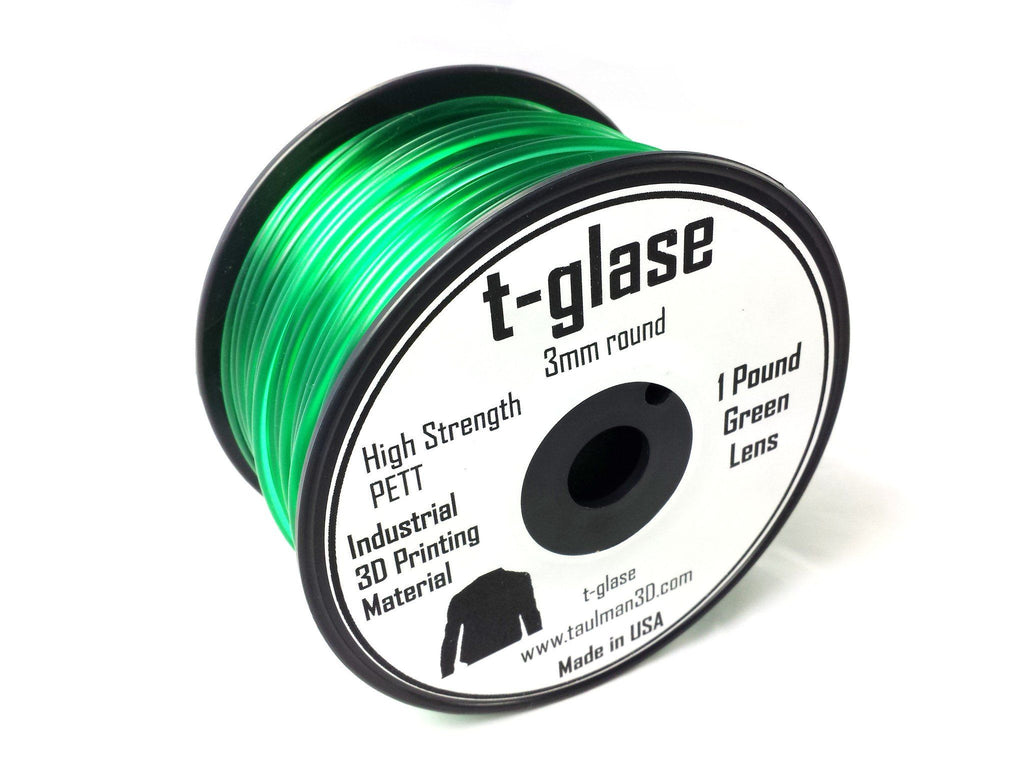 Open 2.85 Filaments - Taulman3D T-Glase Green Lens 2.85mm 1lb