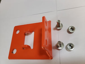 "Plaque de base pour montant 3.25"" couleur orange - standard HD foot plate for frame 3.25"""