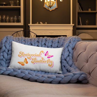 Antisocial Butterfly Premium Pillow - SavvySleeves