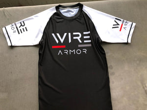 Wire Armor Men Short Sleeve Rashgaurd