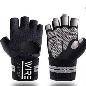 Wire Armor Gym Gloves - Black  (Unisex)