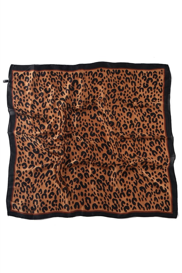 Tørkle Silke Abstrakt leopard Print Brown | Youtrend
