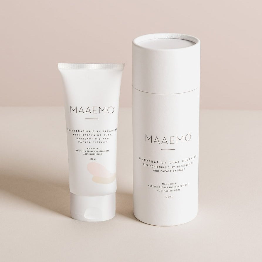 MAAEMO 保濕粉紅皂土潔臉乳 Rejuvenation Clay Cleanser - COSMOS Certified Organic