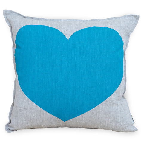 Just Love Your Precious Heart Cushion Cover - Turquoise