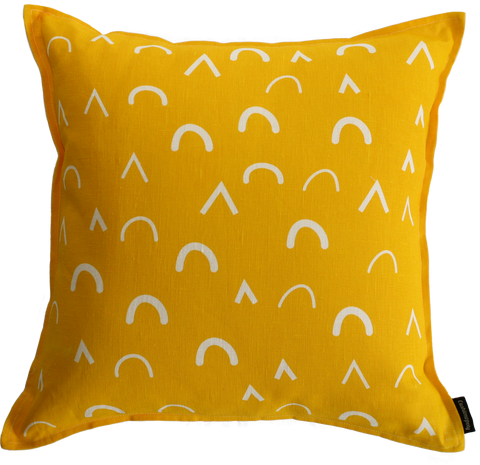 Mountain High Yellow Cushion Cover