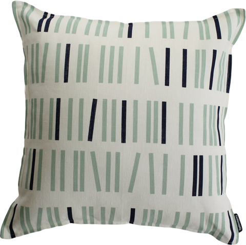 Pick Up Sticks - Navy and Green Cushion Cover