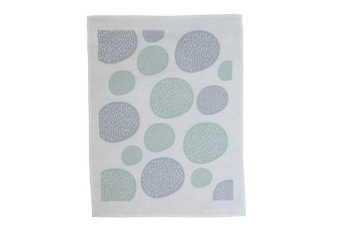 Winter Elm Tea Towel - Moss/Grey
