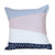 Nordic Light Stripes Cushion Cover - Navy/Pink/Muted Blue