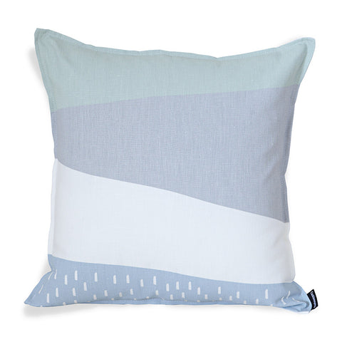 Nordic Light Stripes Cushion Cover - Moss/Grey/Blue
