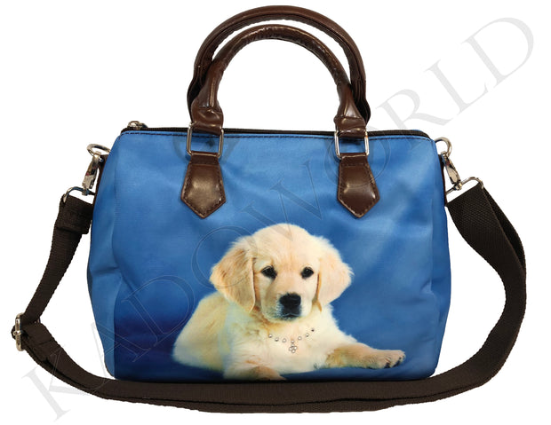 Handtas Bobbi Golden Retriever Blauw