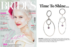Orbs Earrings featured in BRIDES Magazine - May/June Issue - TIN HAUS Jewelry