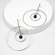 Load image into Gallery viewer, Aerial Earrings - Sterling Silver, Freshwater Pearls - TIN HAUS® Jewelry