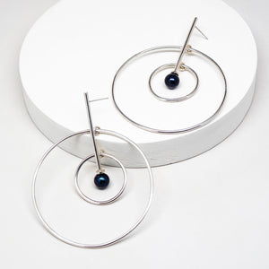 Aerial Earrings - Sterling Silver, Freshwater Pearls - TIN HAUS® Jewelry