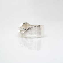 Load image into Gallery viewer, Men's Andromeda Ring - Brush-Textured, Polish, Sterling Silver - TIN HAUS Jewelry