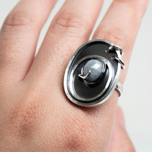 Load image into Gallery viewer, Astro Ring - Sterling Silver, Grey Sapphire - TIN HAUS