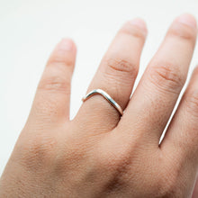 Load image into Gallery viewer, Cyan Stacking Rings - Sterling Silver - TIN HAUS® Jewelry