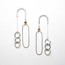 Load image into Gallery viewer, Equilibrium Earrings - Sterling Silver, Gold Rutilated Quartz - TIN HAUS Jewelry