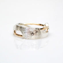 Load image into Gallery viewer, Women's Galaxy Ring - Polish, 14KT Yellow Gold, Sterling Silver, White Diamonds - TIN HAUS Jewelry
