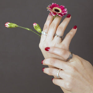 Galaxy and Deity Women's Rings styling - TIN HAUS Jewelry