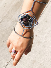 Load image into Gallery viewer, Mana Bracelet with the Diatom Pink Sapphire Pearl Ring.