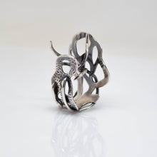 Load image into Gallery viewer, Myth Ring - adjustable size 7 - Sterling Silver - TIN HAUS
