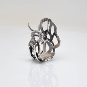 Myth Ring - adjustable size 7 - Sterling Silver - TIN HAUS