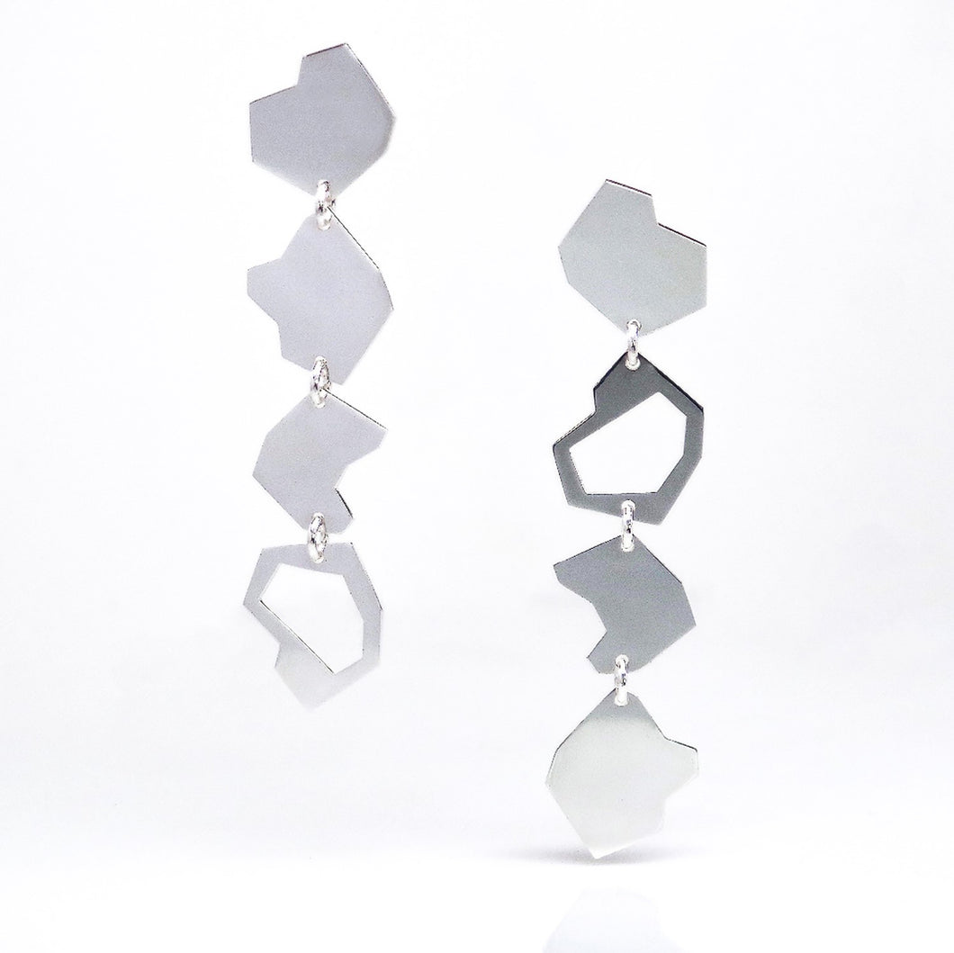 Particle Earrings - Sterling Silver - TIN HAUS Jewelry