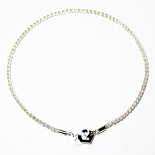 Load image into Gallery viewer, Presence II-Loop Necklace in Polish - Sterling Silver, Fine Silver - TIN HAUS Jewelry