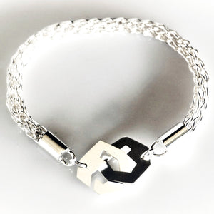 Presence III-Loop Bracelet in High Polish - Sterling Silver, Fine Silver - TIN HAUS Jewelry