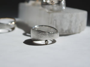 Solar Sterling Silver White Topaz Ring - TIN HAUS Jewelry