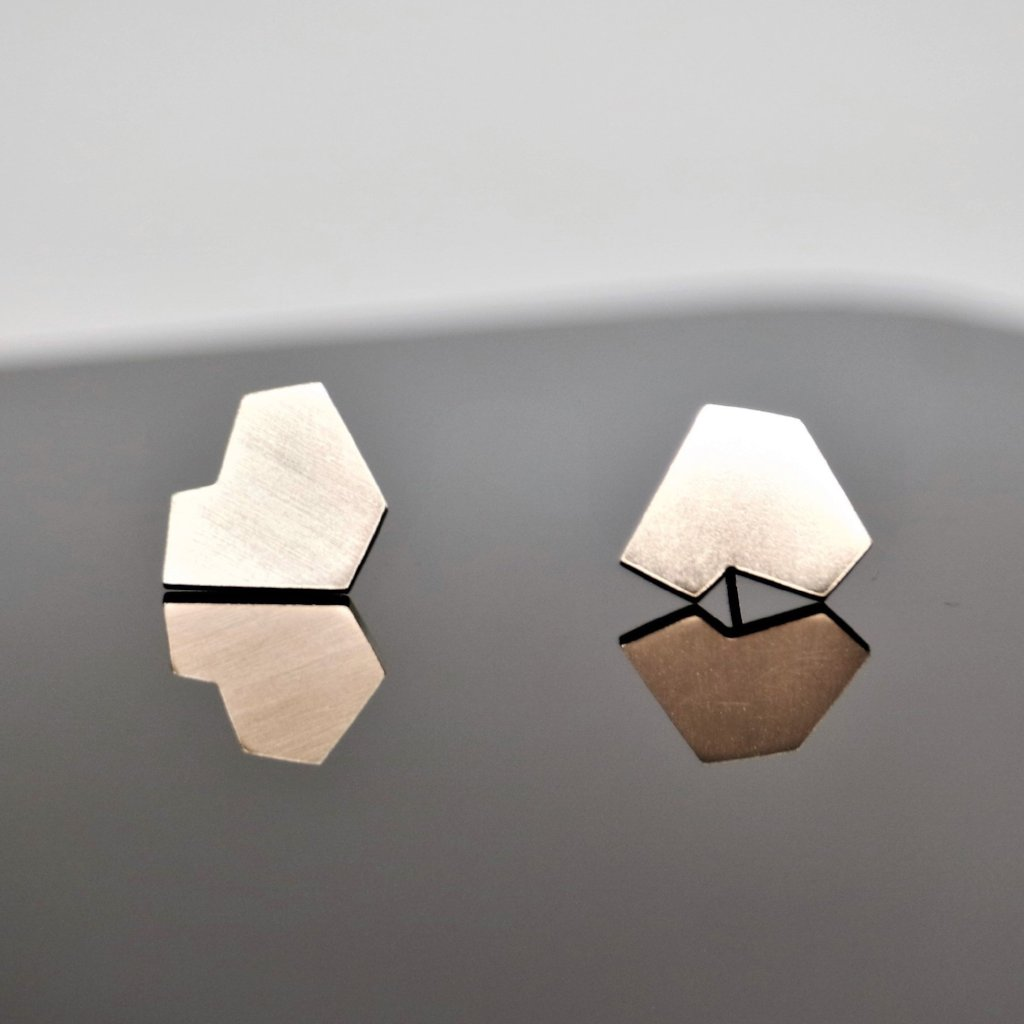 Stillness Studs, Large - Sterling Silver - TIN HAUS Jewelry