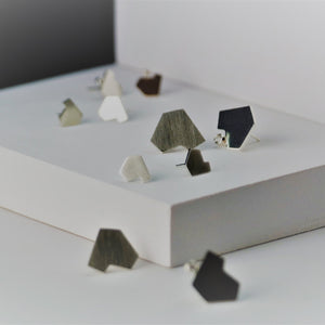 Stillness Studs, Small and Large Group Shot - TIN HAUS Jewelry