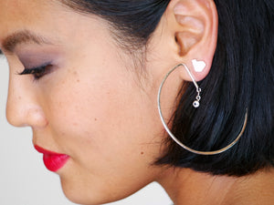 Stillness Studs, Small with Lunar Star Earrings Group Shot - TIN HAUS Jewelry