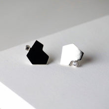 Load image into Gallery viewer, Stillness Studs with Stones, Large - Sterling Silver, White Topaz - TIN HAUS Jewelry