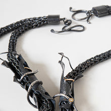Load image into Gallery viewer, Venom Snake Chain Necklace - Fine Silver, Sterling Silver, 14k Yellow Gold, Diamonds - TIN HAUS® Jewelry
