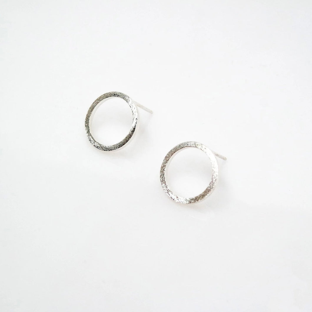 Zen Open Circle Studs - Sterling Silver - TIN HAUS Jewelry