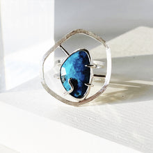 Load image into Gallery viewer, Tranquility Ring - Sterling Silver, American Turquoise - TIN HAUS