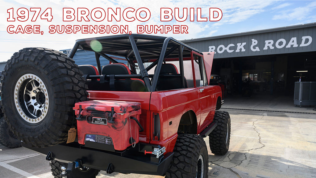 Vintage 1974 Ford Bronco: Custom Roll Cage, Plate Bumper, + Suspension Upgrades