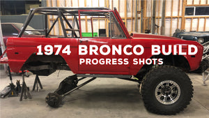 Progress Shots of Vintage 1974 Ford Bronco: Custom Roll Cage, Plate Bumper, + Suspension Upgrades